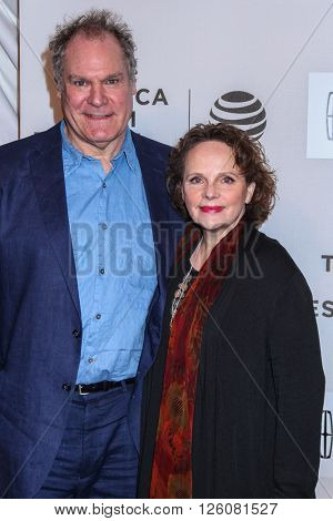 NEW YORK, NY - APRIL 16:  Actors Jay O. Sanders and Maryann Plunkett  attend 'The Family Fang' Premiere - 2016 Tribeca Film Festival on April 16, 2016 in New York City