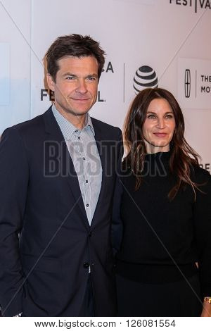 NEW YORK, NY - APRIL 16: Actor Jason Bateman (L) and Amanda Anka attend 'The Family Fang' Premiere - 2016 Tribeca Film Festival at John Zuccotti Theater  on April 16, 2016 in New York City