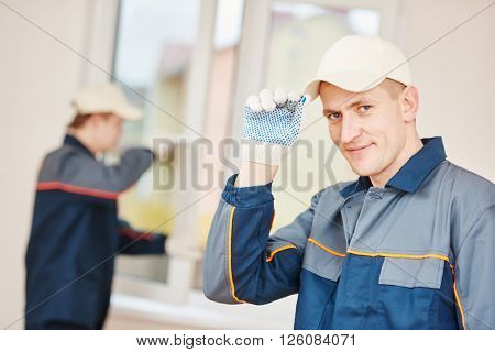 window installation worker