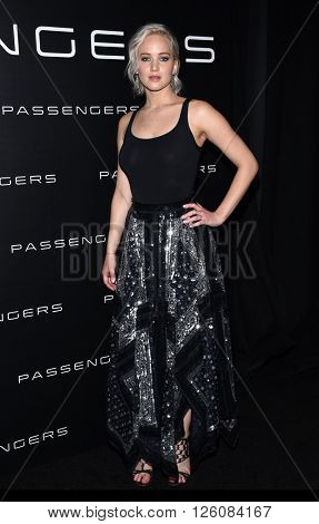 LOS ANGELES - APR 12: Jennifer Lawrence arrives to the Cinema Con 2016: Sony Pictures Presentation on April 12, 2016 in Las Vegas, NV.
