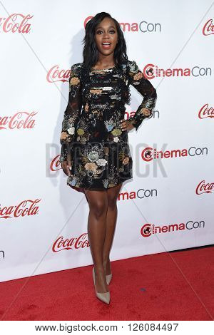 LOS ANGELES - APR 14:  Aja Naomi King arrives to the Cinema Con 2016: Awards Gala  on April 14, 2016 in Las Vegas, NV.