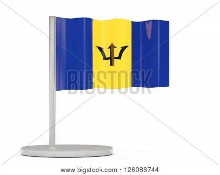 Pin With Flag Of Barbados