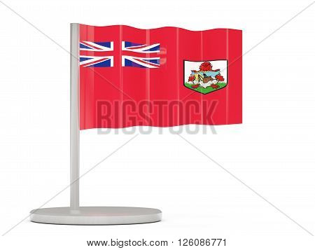 Pin With Flag Of Bermuda