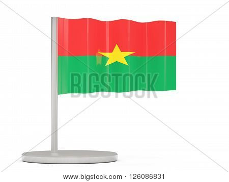 Pin With Flag Of Burkina Faso