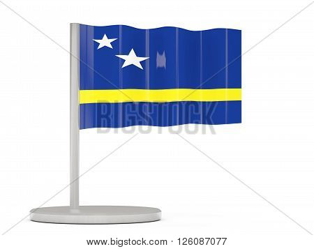 Pin With Flag Of Curacao