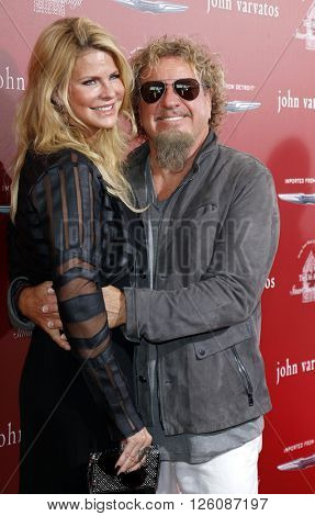 Sammy Hagar and Kari Karte-Hagar at the John Varvatos 13th Annual Stuart House Benefit held at the John Varvatos in West Hollywood, USA on April 17, 2016.