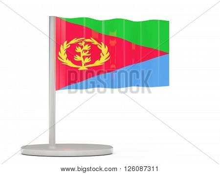 Pin With Flag Of Eritrea