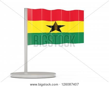 Pin With Flag Of Ghana