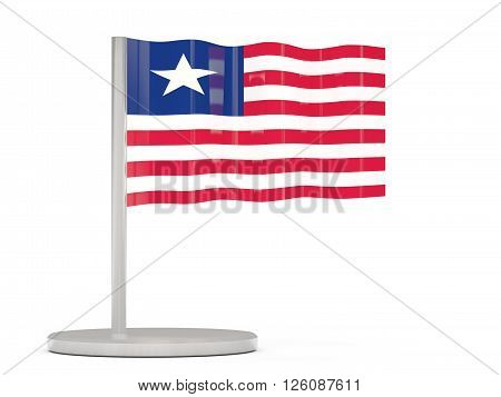 Pin With Flag Of Liberia