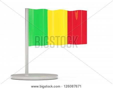 Pin With Flag Of Mali