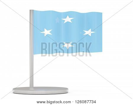 Pin With Flag Of Micronesia