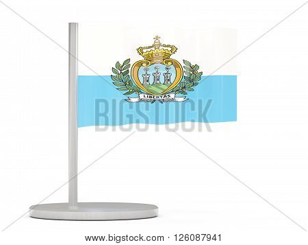 Pin With Flag Of San Marino