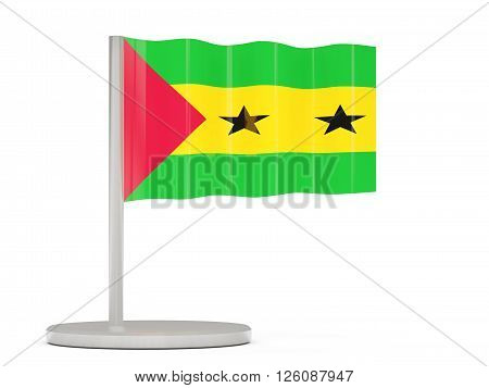 Pin With Flag Of Sao Tome And Principe