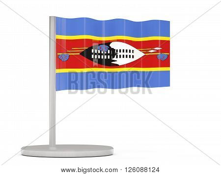 Pin With Flag Of Swaziland