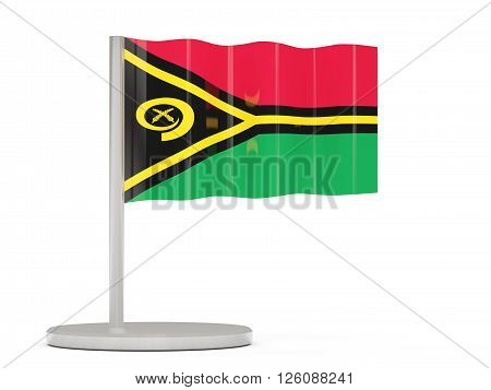 Pin With Flag Of Vanuatu