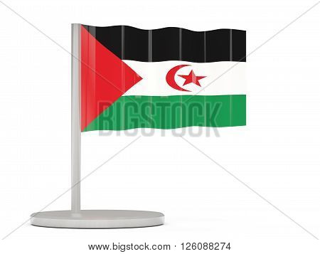Pin With Flag Of Western Sahara