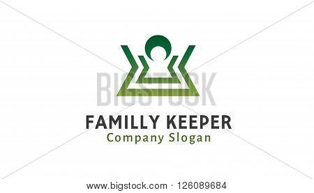 Familly Keeper Creative And Symbolic Logo Design Illustration