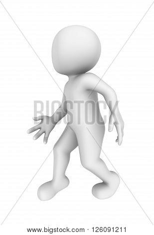 3d person is stolen. 3d rendered illustration.
