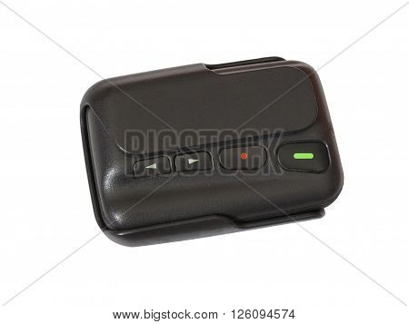 Old pager device isolate on white background