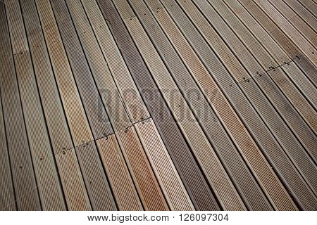 Wooden deck background lumber pattern brown color