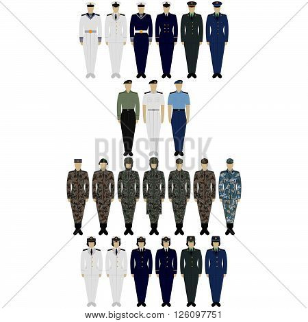The illustration on a white background. Insignia Army of China