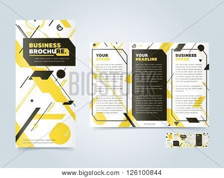 Tri fold design. Cover design concept. Tri fold cover and inside page. Advertising brochure template. Trifold. Tri fold brochure design. Design folding brochure. Tri fold template. Flyer layout. Creative trifold brochure.