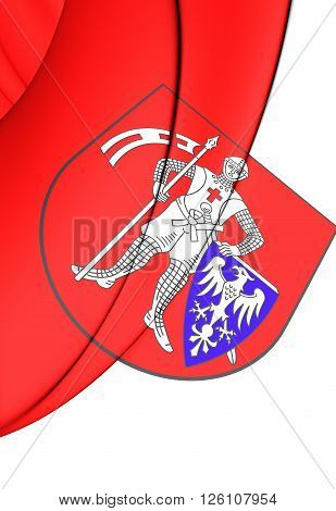 Flag Of Bamberg (upper Franconia), Germany.