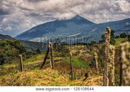 View of a mountain in Costa Rica