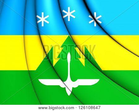Flag Of Khanty-mansiysk City, Russia.