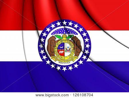 Flag Of Missouri, Usa.