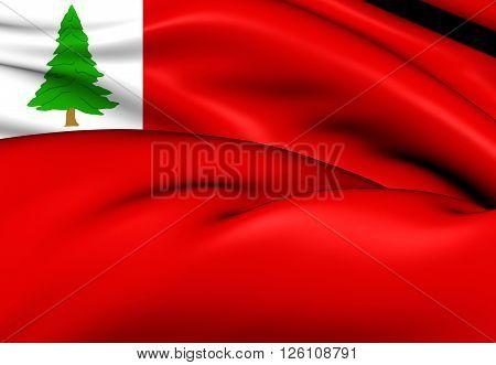 Flag Of New England (pine), Usa.