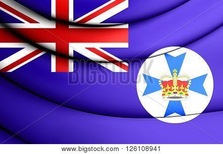 Flag Of Queensland, Australia.