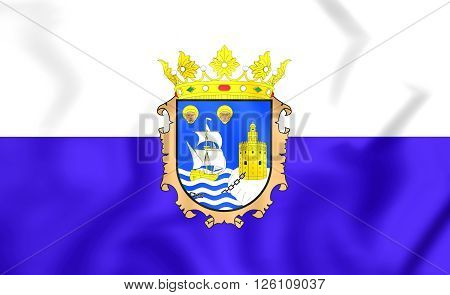 Flag Of Santander, Spain.