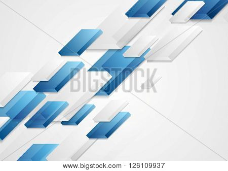 Abstract bright corporate tech 3d shapes background. Graphic vector card design