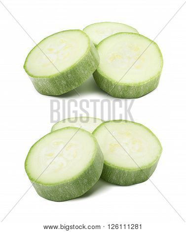Squash vegetable zucchini pieces group isolated 3 as package design element