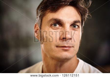 Closeup portrait of confident man looking at camera.