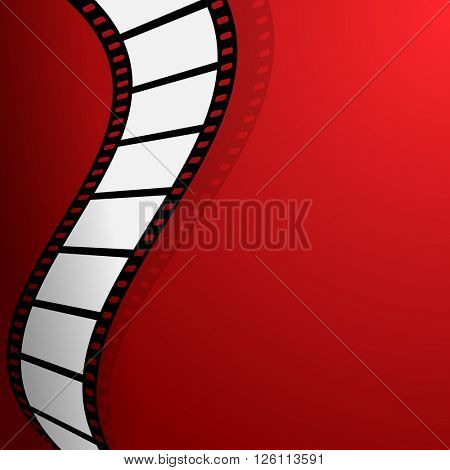 Film on the red background
