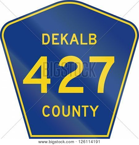 Indiana County-designated Highway Shield - Dekalb County
