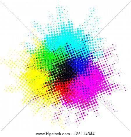 Colorful dot spots
