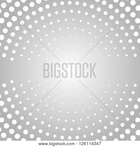 Gray dot round background