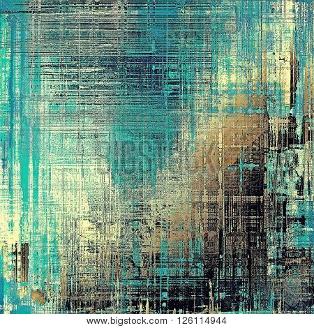 Vintage and retro design elements on faded grunge background. With different color patterns: yellow (beige); brown; gray; blue; black; cyan