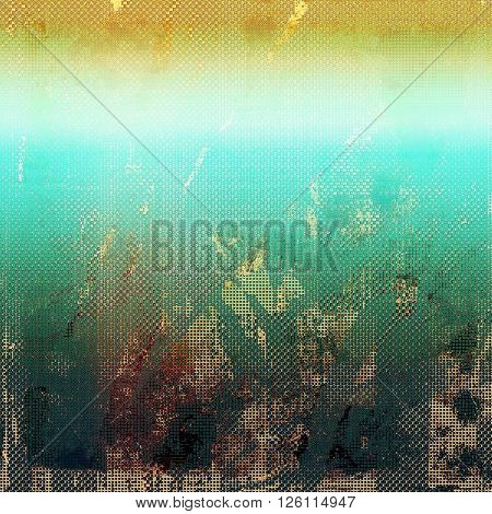 Vintage old-style texture, worn and rough grunge background with different color patterns: yellow (beige); brown; gray; green; blue