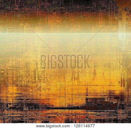 Highly detailed scratched texture, aged grungy background. Vintage style composition with different color patterns: yellow (beige); brown; gray; black; white