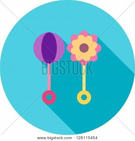 Rumba, shaker, wooden icon vector image.Can also be used for baby. Suitable for mobile apps, web apps and print media.
