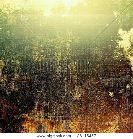 Retro background with vintage style design elements, scratched grunge texture, and different color patterns: yellow (beige); brown; gray; green; black; white