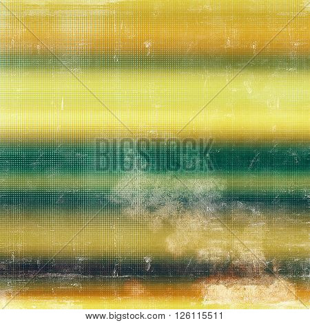 Background with dirty grunge texture, vintage style elements and different color patterns: yellow (beige); brown; gray; green; blue; cyan
