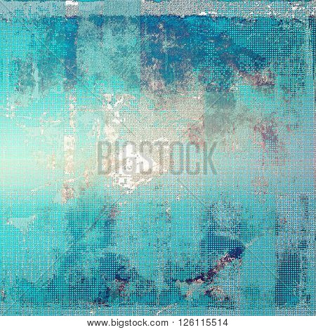 Vintage elegant background, creased grunge backdrop with aged texture and different color patterns: gray; blue; white; cyan