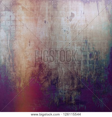 Vintage style designed background, scratched grungy texture with different color patterns: yellow (beige); brown; gray; red (orange); green; purple (violet)
