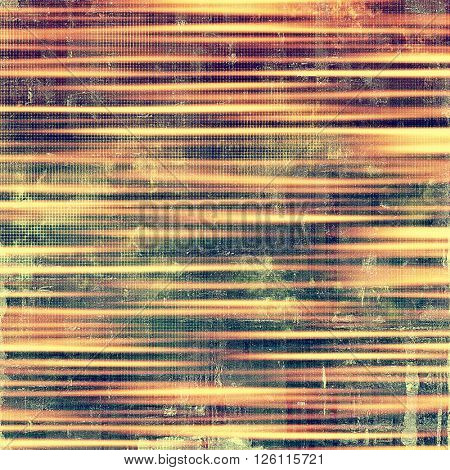Vintage torn texture or stylish grunge background with ancient design elements and different color patterns: yellow (beige); brown; gray; red (orange); purple (violet)