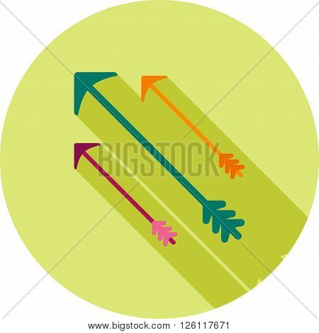 Darts, arrow, archery icon vector image. Can also be used for games entertainment. Suitable for web apps, mobile apps and print media.